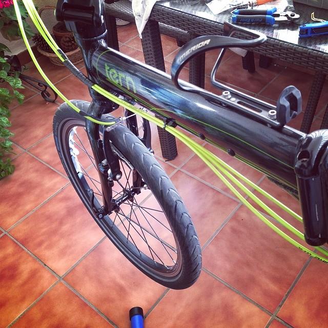 Montar cambios en bicicleta plegable