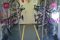 Llevar bicicletas con Renfe: si pero…