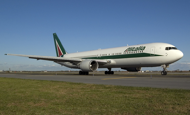 Alitalia, la compañía por la que vamos a viajar.