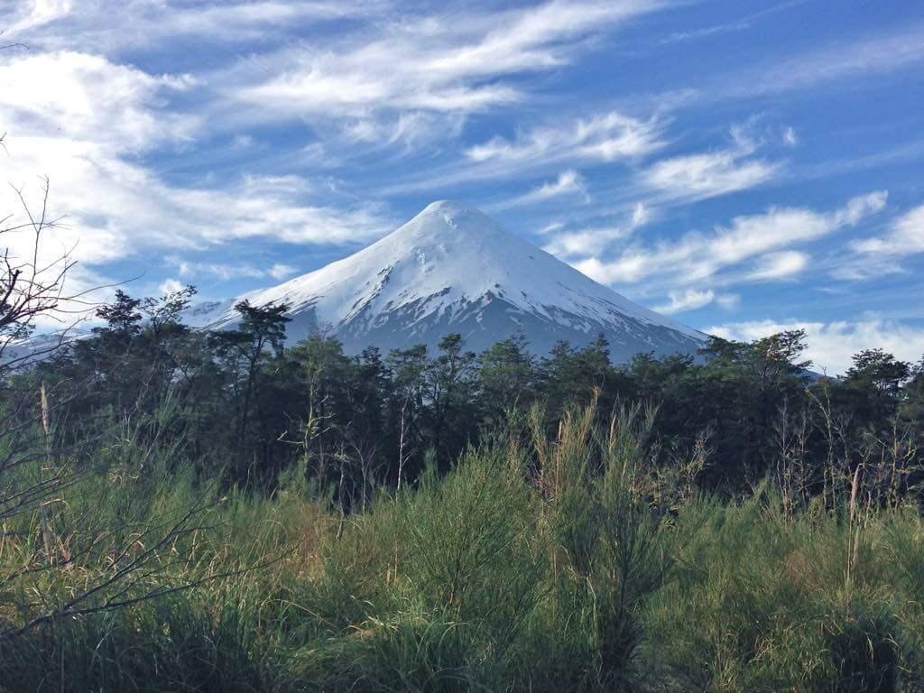 El Volcán Osorno en Chile, sitio por donde vamos a pedalear durante unos 3 días.