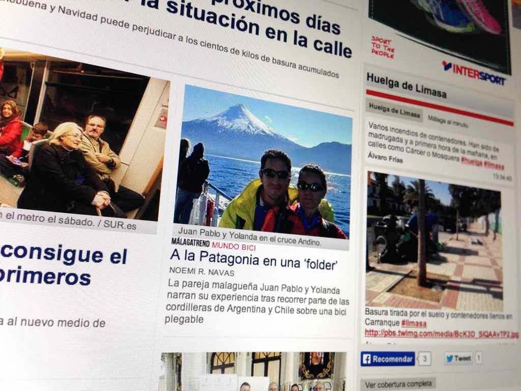 Portada del Diario Sur de Málaga el pasado 24 de diciembre.