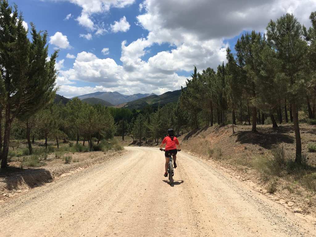 Saliendo de Alhama de Granada