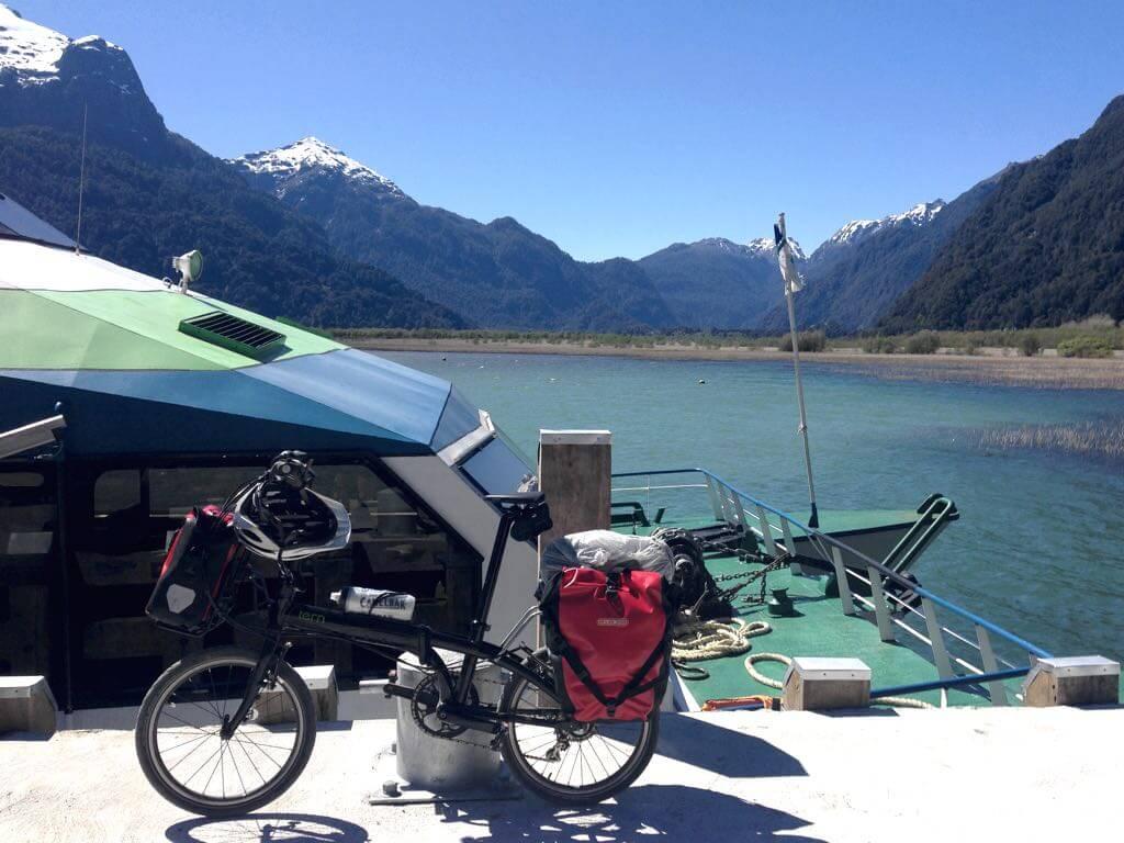 ruta en bicicleta en Patagonia
